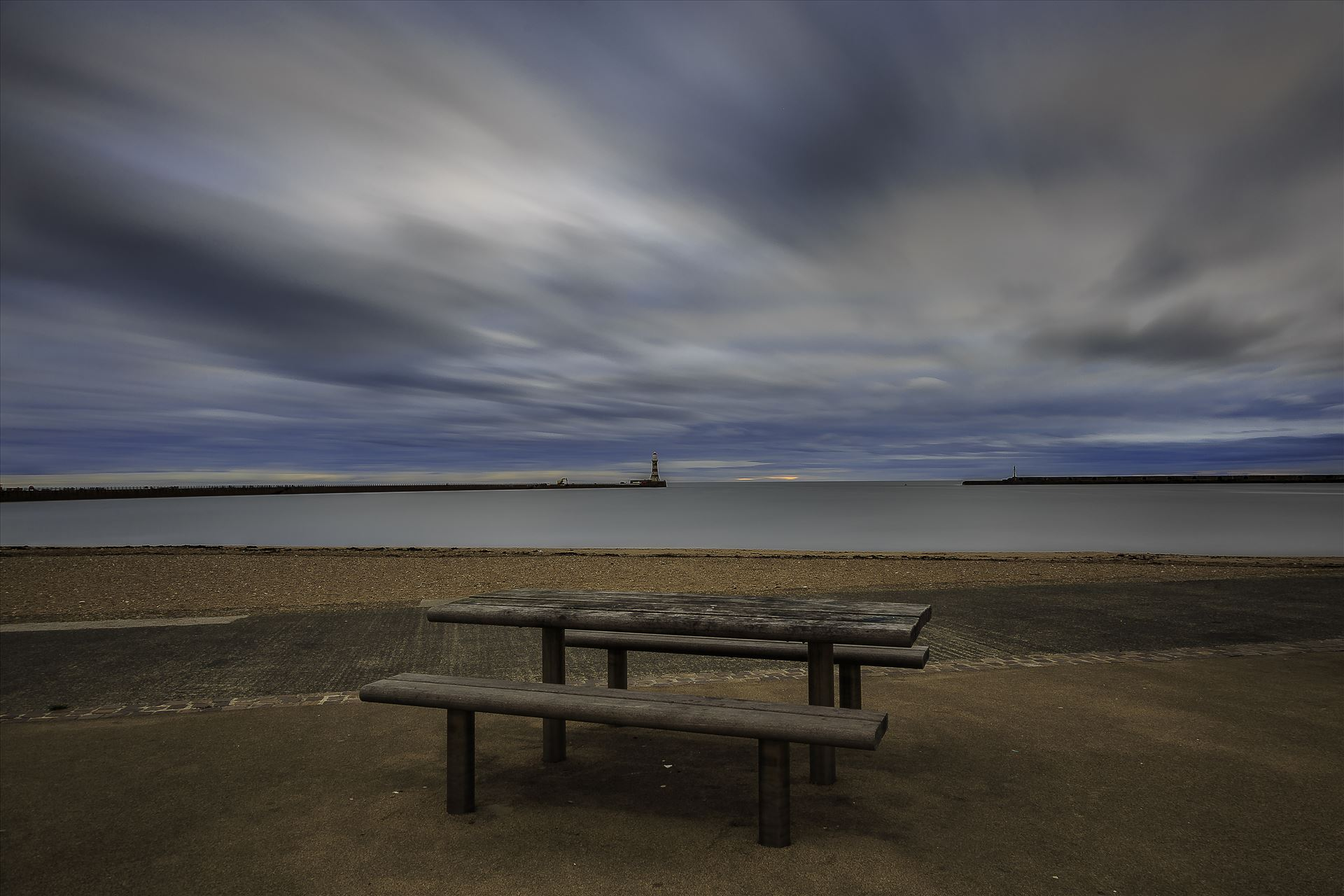 Roker Seafront - Seat with a view by David Morton Photography