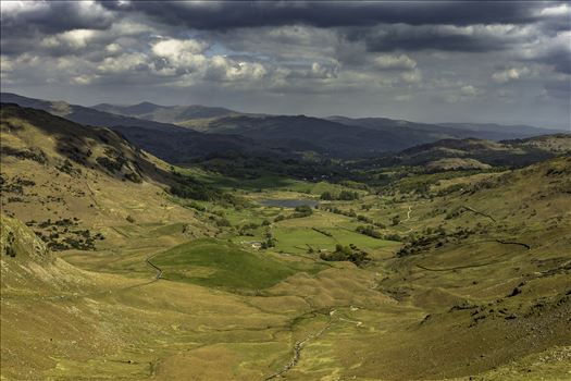 Wrynose pass in lake district